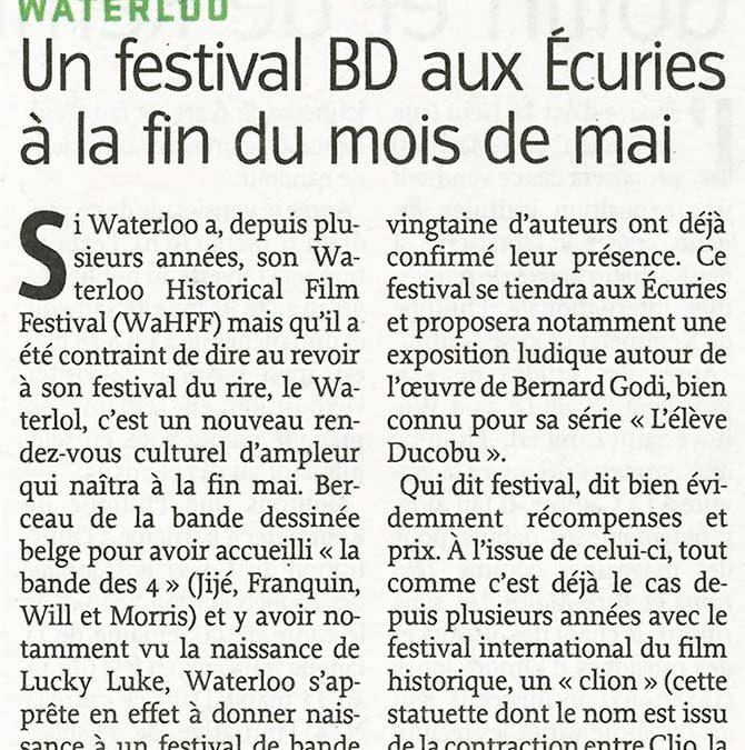 Un festival BD aux Ecuries à la fin du mois de mai